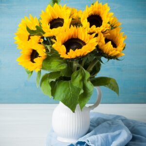 Beautiful sunflowers bouquet